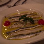 Baby eels sauteed with olive oil and garlic