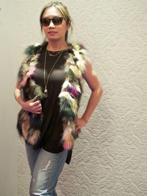 Coco and Violet fur vest frontjpg