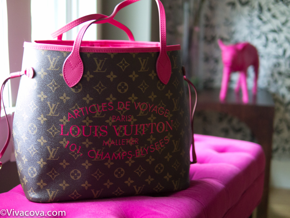 I Got A Louis Vuitton Neverfull The Limited Edition Ikat Hot Pink Fuchsia Indian Rose Ss2017 Mm Medium Size Leather Straps Are Just In